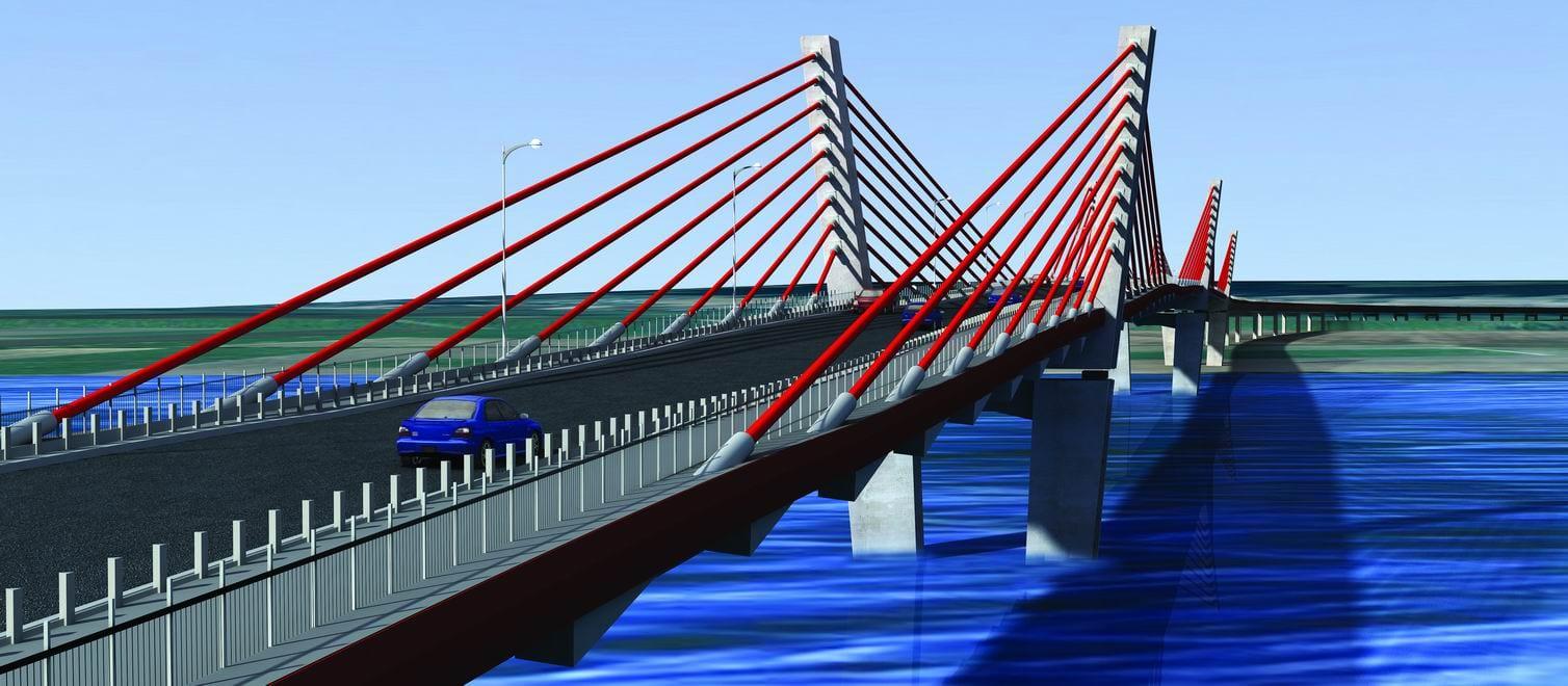 foto: transprojekt-gdanski  -  most Kwidzyn Vizualizacja