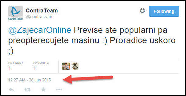 twitter contrateam odgovor
