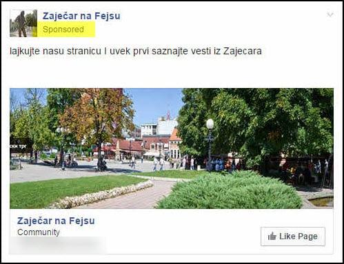 fb stranica Zaječar na Fejsu