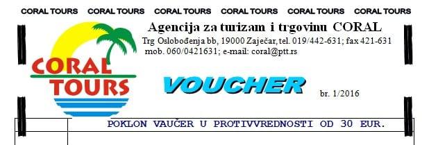 vaučer coral tours