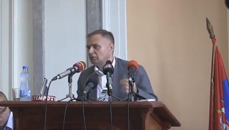 Ivan Joković na današnjoj sednici